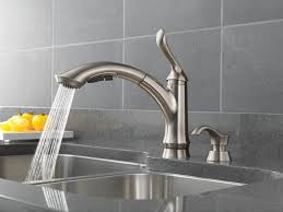 Delta Brushed Nickel Kitchen Faucet by Brass Wide Spread Delta Touch Kitchen Faucet Single Handle Side