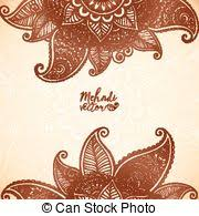 mehndi lace indian henna tattoo vector ornament orient