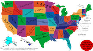 Washington New York Map by What U0027s The Best Movie Set In Your State This Map Will Tell You