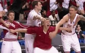 basketball bench celebrations arrow to the face gif gallery ncaa bench warmers celebrating