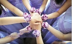 cheap corsages colurful wedding bridesmaid wrist corsages