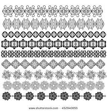 set vector borders seamless pattern decorative stock vector