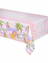 deco jungle bapteme nappe plastique jungle 1 an fille 137 x 214 cm décoration