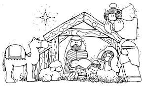jesus in the manger coloring page christmas nativity coloring 1 printable christmas nativity