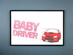 baby driver subaru baby driver red subaru wrx movie poster