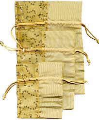 gold organza bags organza bag gold stripe bag gold med 12 x 16 5cm gifts
