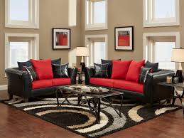 Decorate Living Room Black Leather Furniture Living Room Black And Red Sofa And Loveseat For Contemporery