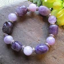 bracelet gemstone images Amethyst gemstone stretch bracelet created with love boutique jpg