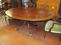 inlaid dining table and chairs oval pedestal dining room table createfullcircle com