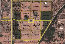 Douglas Arizona Map by Calvary Cemetery Douglas Az