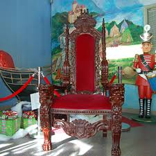 linen rental chicago rent carved wooden santa throne in chicago il santa claus