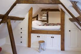 corner loft bed kids farmhouse with built in storage step stool