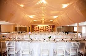 Wedding Ceiling Draping by Coatesville Hall Wedding Draping With Fairy Light Chandeliers La