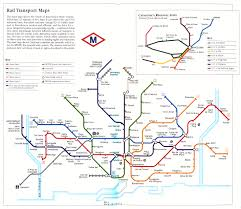 Barcelona Subway Map by Spain Madrid Barcelona Train Rail Maps