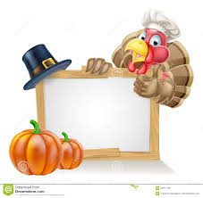 chef turkey thanksgiving sign stock vector image 56551130