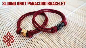 bracelet knots paracord images How to make a sliding knot paracord bracelet with hex nut bead jpg