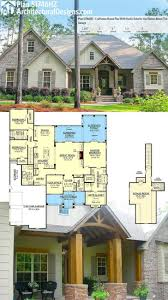 brick house designs plans with porches and stone exterior plan