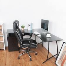 Black L Shaped Desk With Hutch Furniture L Shaped Office Desk With Hutch Black L Desk L Desk