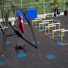 no room for a in your house go outside with rubber fitness mats