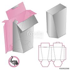 gift box packaging template box design die stamping folding