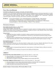 resume skills communication public relations sample resume public relations manager sample