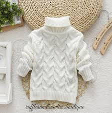 baby sweaters baby ruffle neck fall winter pull sweater