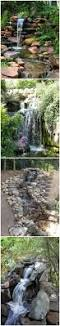 how to build a garden waterfall pond 1 mole holes pinterest
