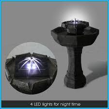 solar fountains with lights solar garden fountains with lights solar knowledge base