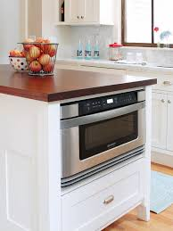 microwave in kitchen island to integrate a microwave