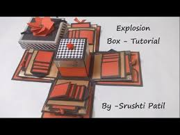art and craft how to make basic explosion box explosion box