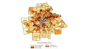 Map Of Metro Atlanta Doubling Of Nonwhite Population Leads Demographic Changes Over