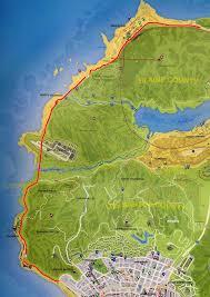 Gta World Map Great Ocean Highway Gta Wiki Fandom Powered By Wikia