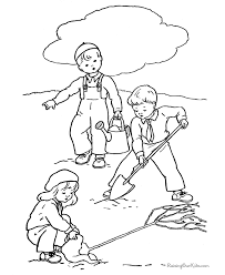 arbor day activity coloring page desenhos para colorir