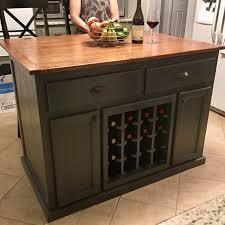 Kitchen Island With Wine Rack - kitchen island with 10 overhang and wine by worthysrunfurniture
