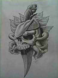 20 army skull tattoo designs