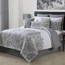 Bed Bath And Beyond Comforter Sets Full Mona 9 Piece Comforter Set In Grey Bed Bath U0026 Beyond