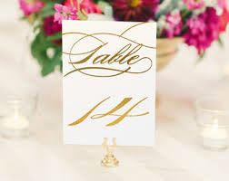 notulen gold foil table numbers gold table number cards