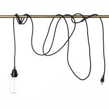 lighting woven pendant light cord fabric vintage industrial