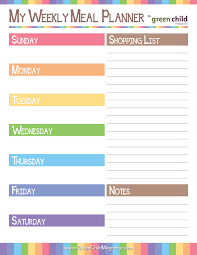 printable menu planner pages 6 best images of weekly meal planner sheets printable printable