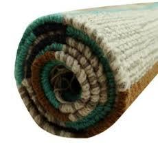 Indian Runner Rug Handmade Carpet Mat Floor Runner Cotton Jute Rug Stripe Patt