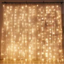 Curtain Lights Amazon by Amazon Com Twinkle Star 300 Led Window Curtain String Light For