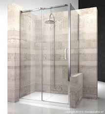 sliding shower enclosure for shower trays next to bathtub or low