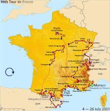 Monaco France Map by 2009 Tour De France Wikipedia