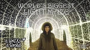 vancouver christmas light maze enchant christmas vancouver the world s biggest light maze youtube