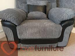 Ashmore Sideboard Fabric 1 Seater Recliner Sofa Grey