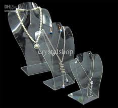 earrings necklace holder images 2018 wholesale clear acrylic necklace pendant earrings jewelry set jpg