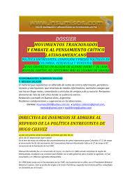Movimientos Encadenados Mayo 2011 - dossier ii movimientos traicionados