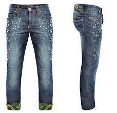 philipp plein mens straight conspicuous denim jeans denim jeans
