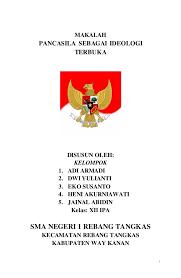 Bab 1 Pancasila Sebagai Ideologi Terbuka Dwi Aji   makalah pancasila sebagai ideologi terbuka republik indonesia