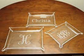 personalized crawfish trays personalized clear acrylic 3 nesting trays